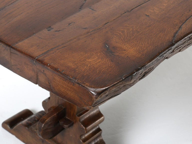 Antique French Trestle Dining Table, circa 1800 For Sale 1