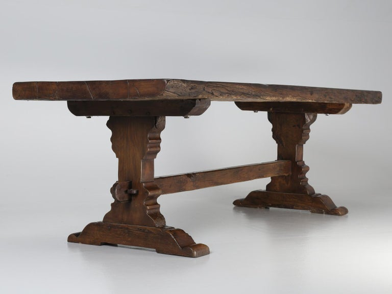 Antique French Trestle Dining Table, circa 1800 For Sale 8