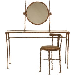 Giacometti Inspired Bronze Dressing Table