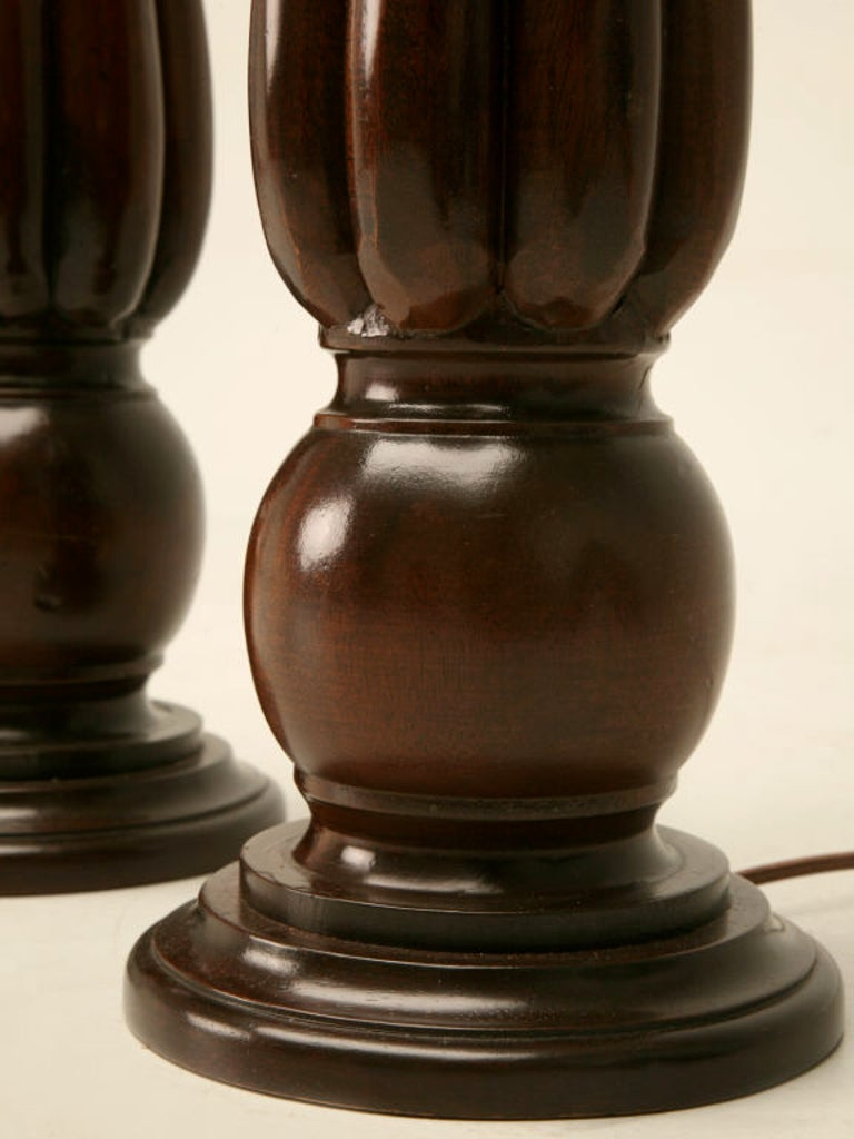 English Mahogany Table Lamp, circa 1920- 1stdibs New York For Sale 5