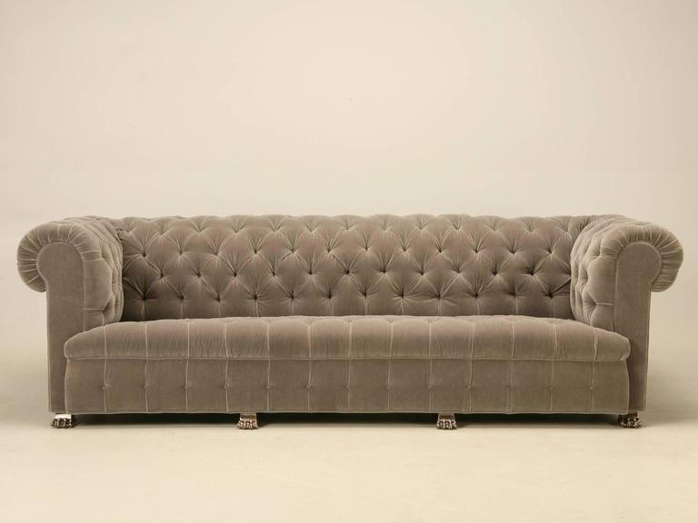 Classic Chesterfield Designed Sofa With Nickel Plated Solid Bronze Feet  That Give It A Bit