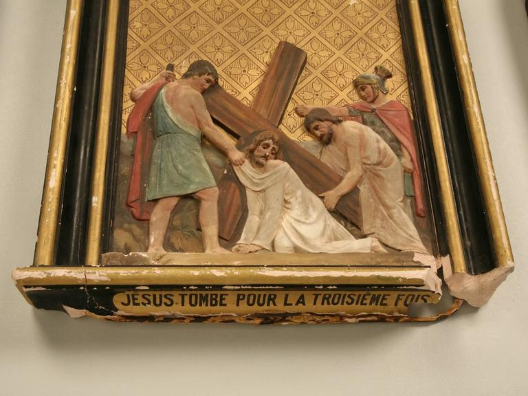 French Antique Stations Of The Cross At