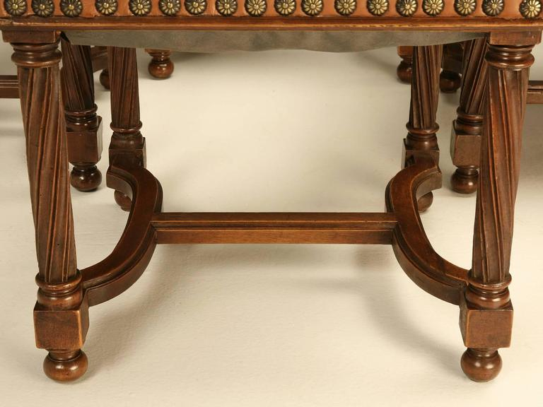 Antique Set Of 14 French Walnut Dining Chairs At 1stdibs