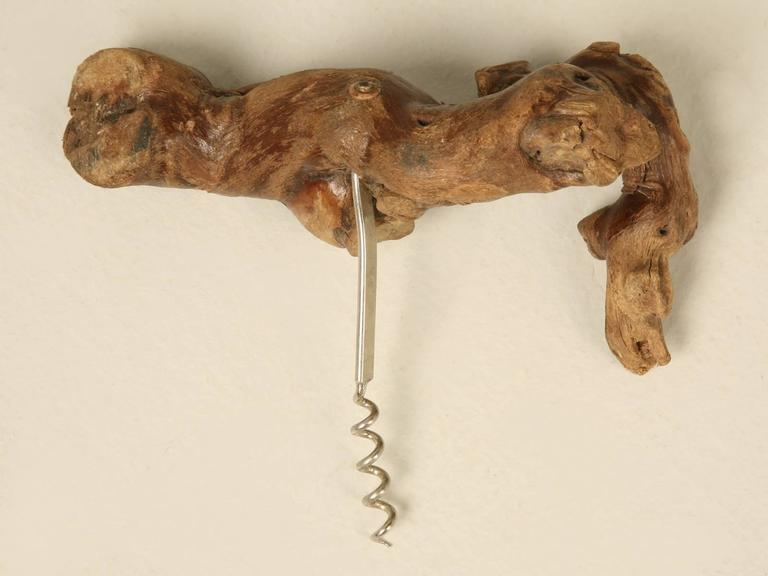 French corkscrew made from a grapevine and what could possibly be more apropos?
