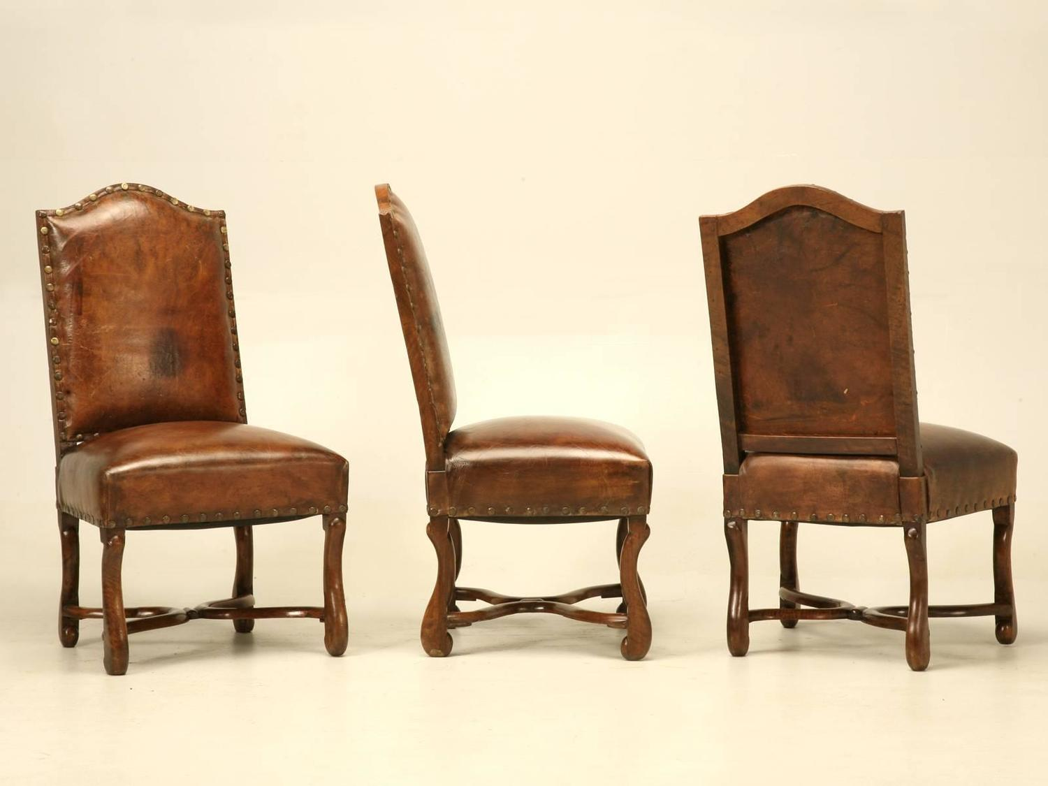 French Leather Dining Chairs circa 1750 at 1stdibs : j173110z from www.1stdibs.com size 1500 x 1125 jpeg 85kB