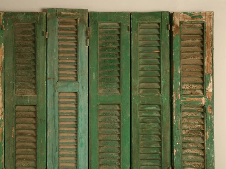 Country French Shutters in Original Paint For Sale