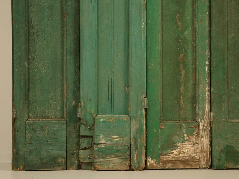 French Shutters in Original Paint For Sale 1
