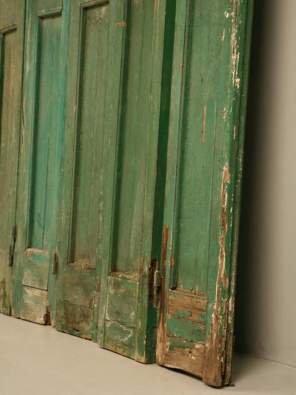 French Shutters in Original Paint For Sale 2