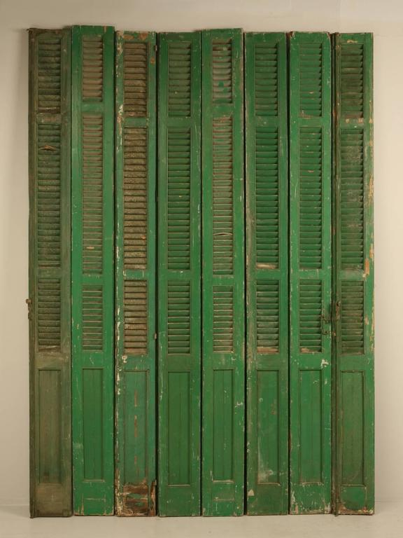 French Shutters in Original Paint For Sale 3