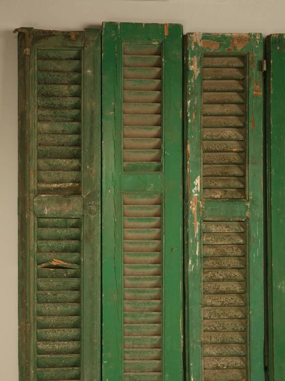 French Shutters in Original Paint For Sale 4