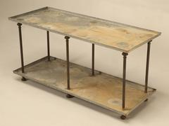 Industrial Style Steel Two Tier Table