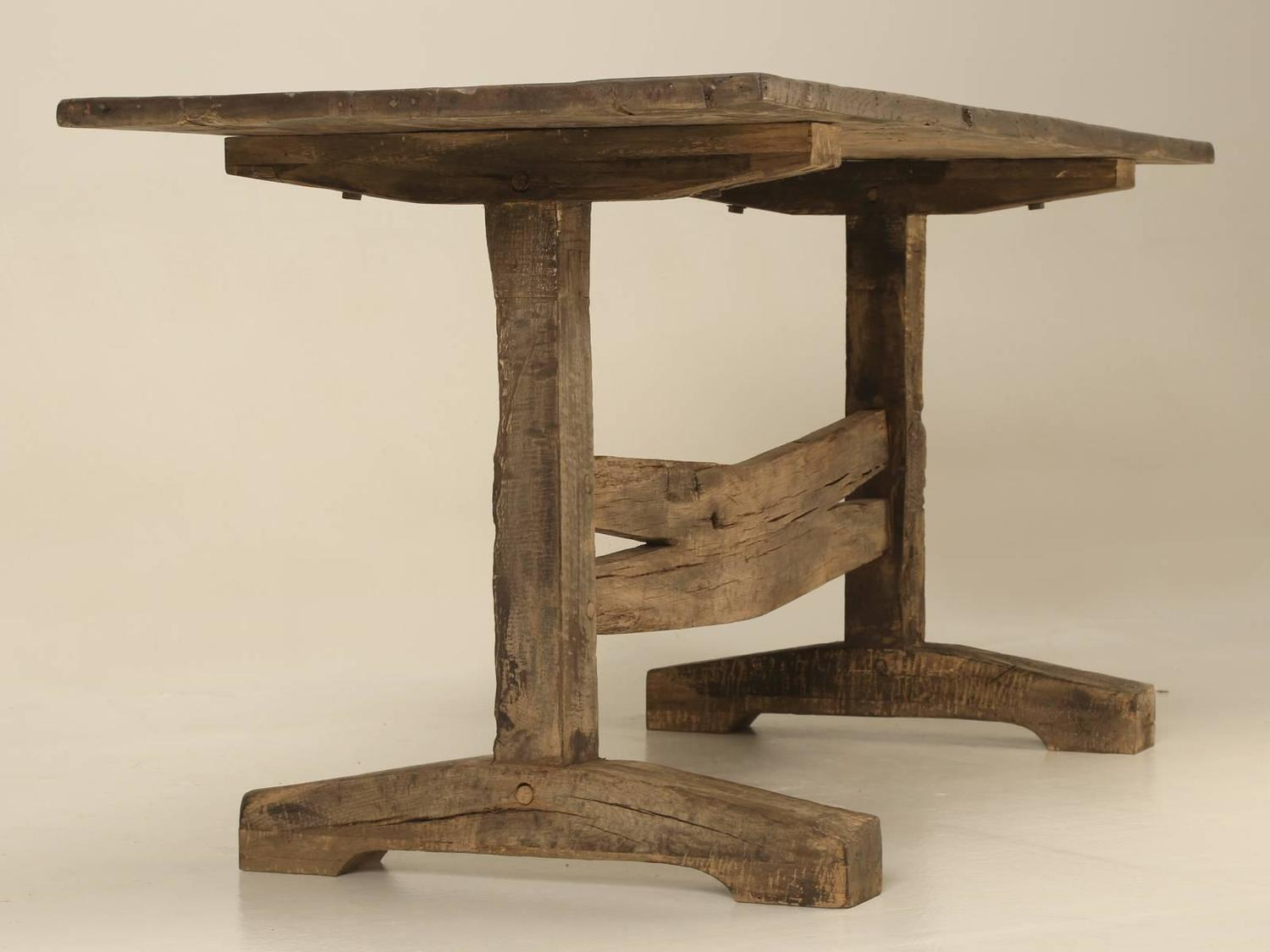 Antique French Trestle Dining or Kitchen Table circa