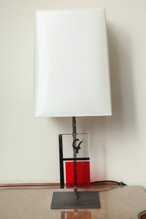 pair of roberto rida red yroky lamps for sale at 1stdibs. Black Bedroom Furniture Sets. Home Design Ideas