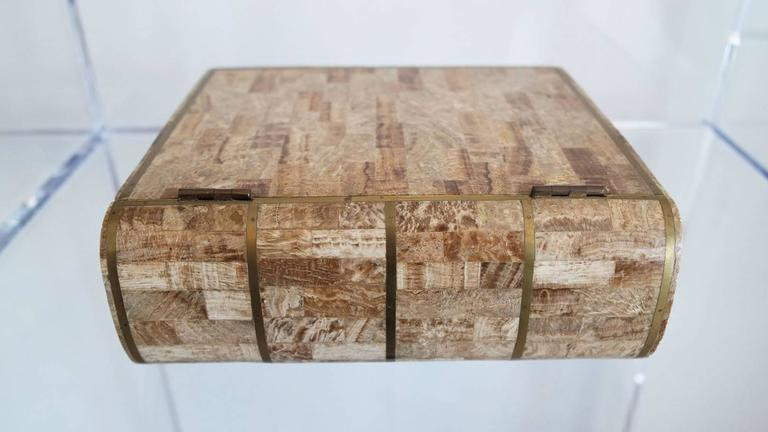 Maitland Smith Tesselated Stone Book Box 7