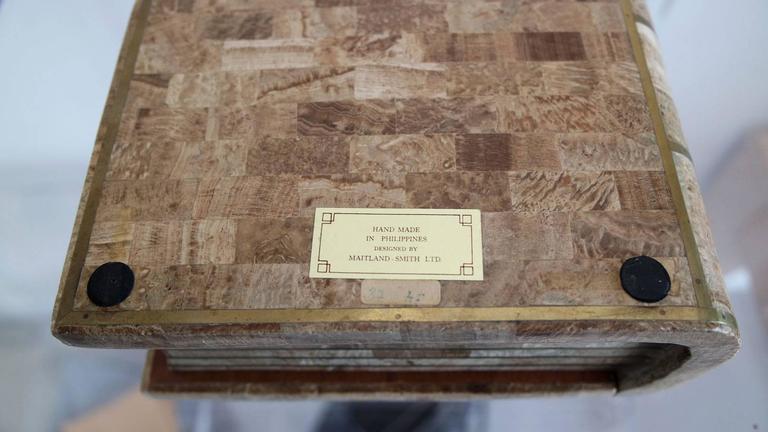 Maitland Smith Tesselated Stone Book Box 8