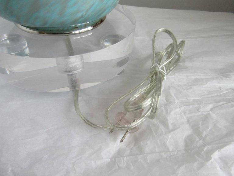 Vintage Murano Blue Lamp 5