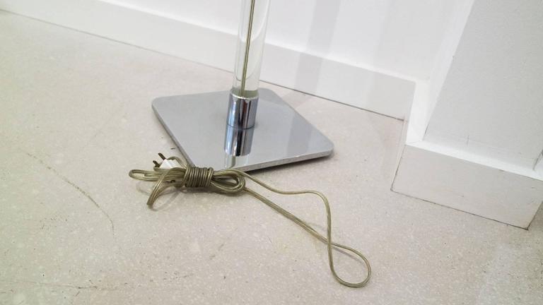 Vintage Hansen New York Lucite Floor Lamp 5