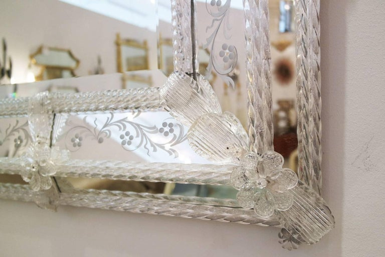 Vintage Italian Venetian Mirror For Sale 1