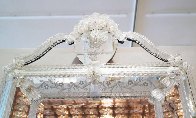 Hollywood Regency Vintage Italian Venetian Mirror For Sale