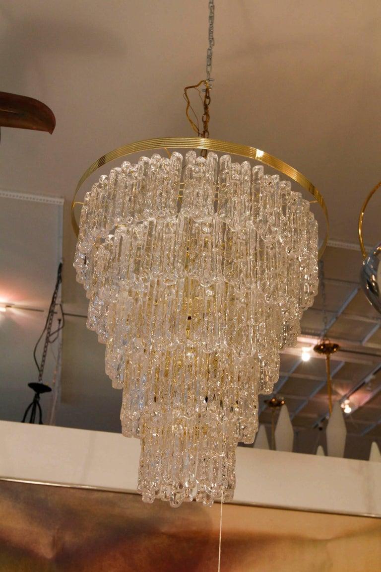 Vintage Monumental Lucite Chandelier 2