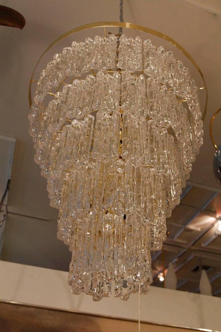 Vintage Monumental Lucite Chandelier 3