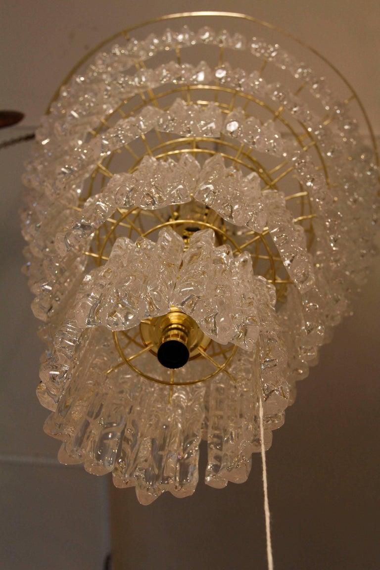 Vintage Monumental Lucite Chandelier 4