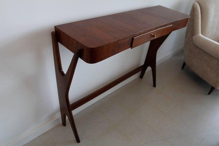 Mid-Century Modern Italian Wooden Console 7