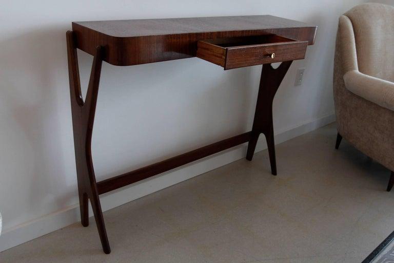 Mid-Century Modern Italian Wooden Console 2