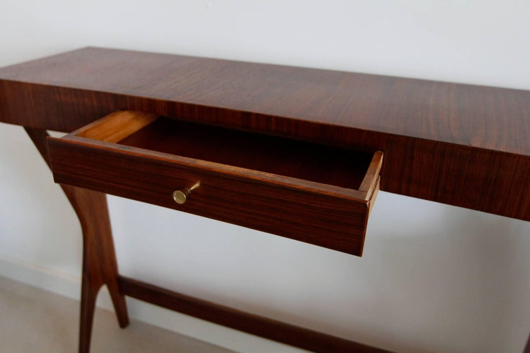 Mid century modern italian wooden console for sale at 1stdibs for Contemporary furniture west palm beach