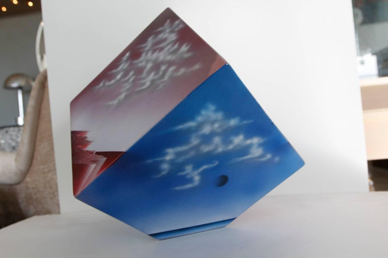 Ceramic Cube Sculpture with Atmospheric Images 7