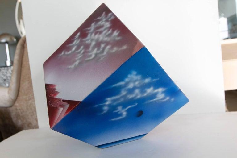 Ceramic Cube Sculpture with Atmospheric Images 6
