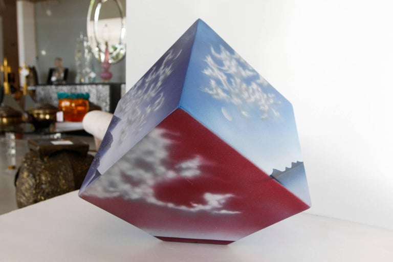 Ceramic Cube Sculpture with Atmospheric Images 4