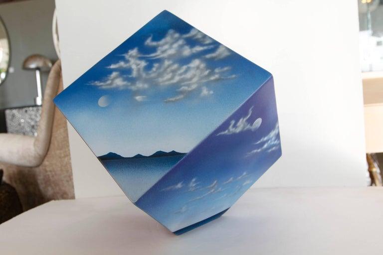 Ceramic Cube Sculpture with Atmospheric Images 5