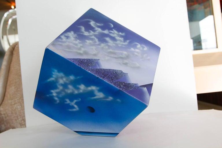 Ceramic Cube Sculpture with Atmospheric Images 8