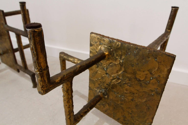 Silas Seandel Bronze Brutalist Coffee Table Base 6