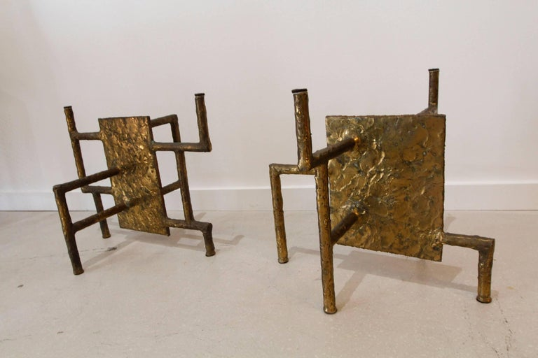 Silas Seandel Bronze Brutalist Coffee Table Base 2