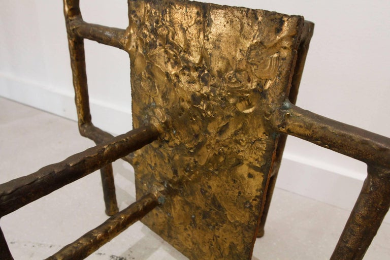 Silas Seandel Bronze Brutalist Coffee Table Base 7
