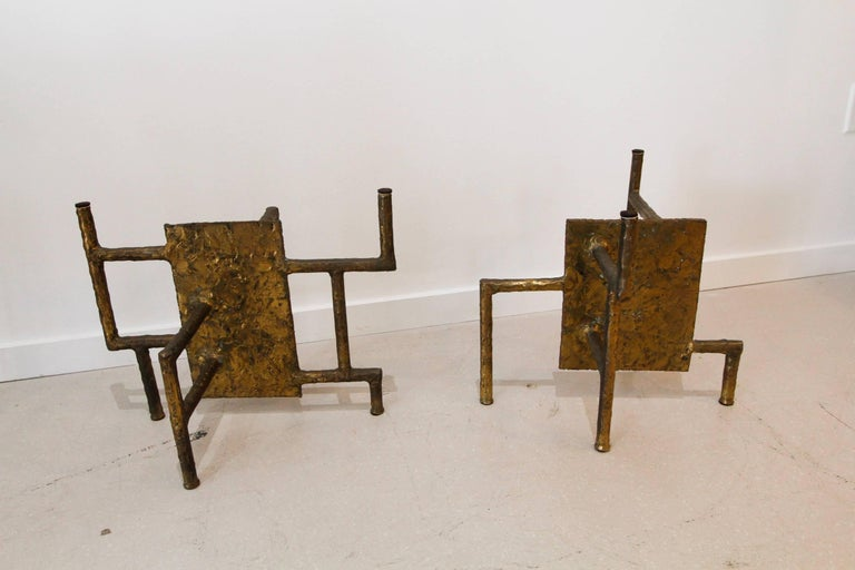Silas Seandel Bronze Brutalist Coffee Table Base 5