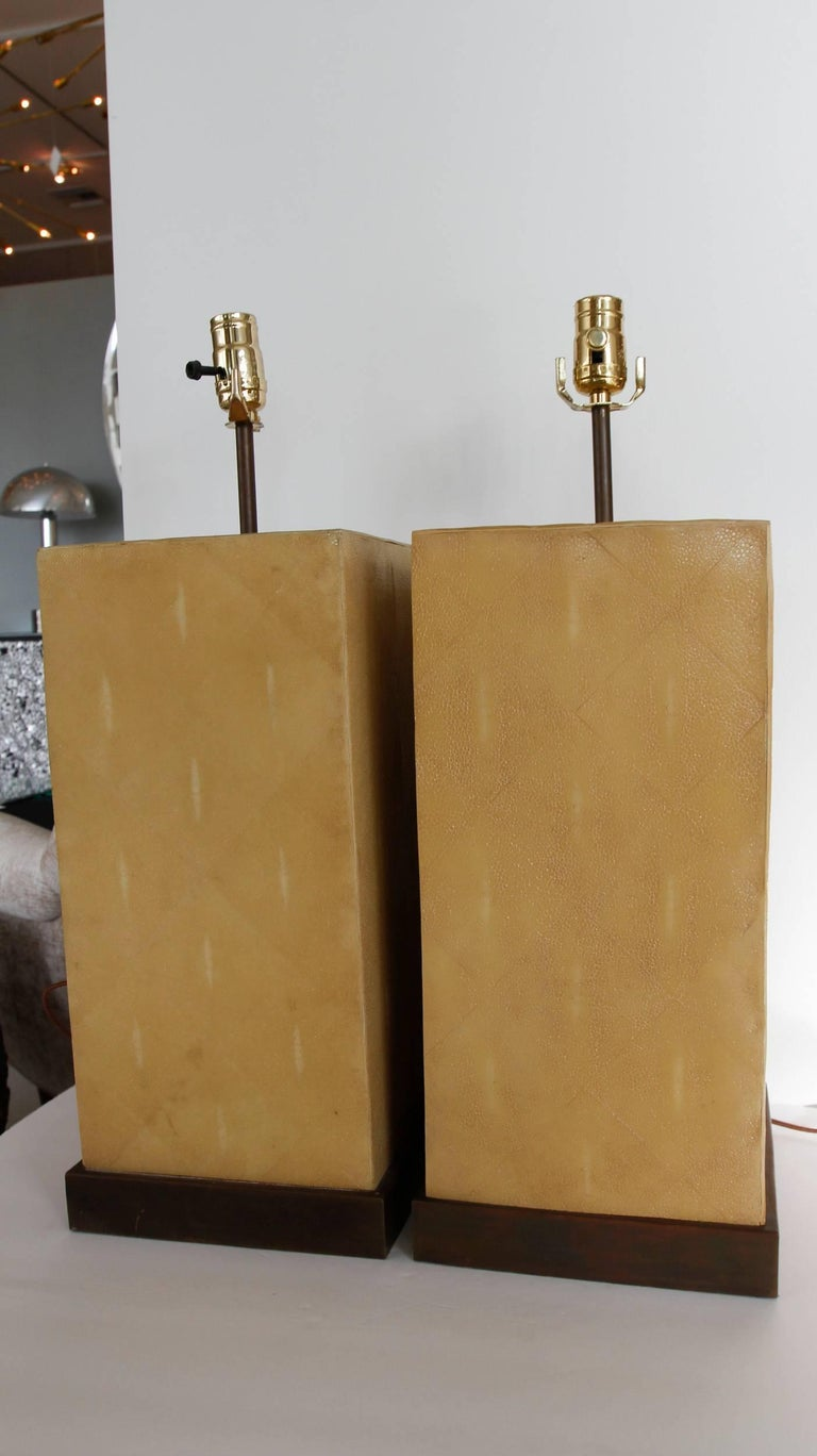 Pair of Stingray Lamps-- Shagreen 10