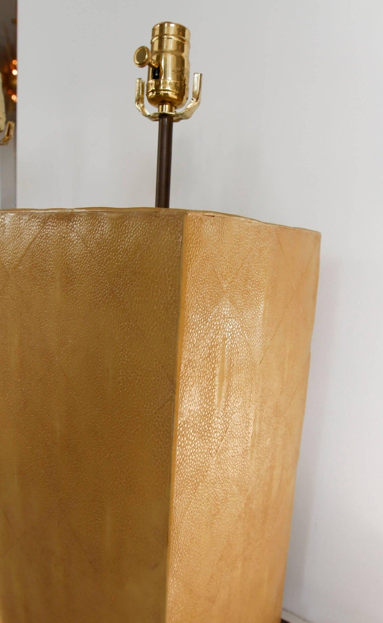 Pair of Stingray Lamps-- Shagreen 7