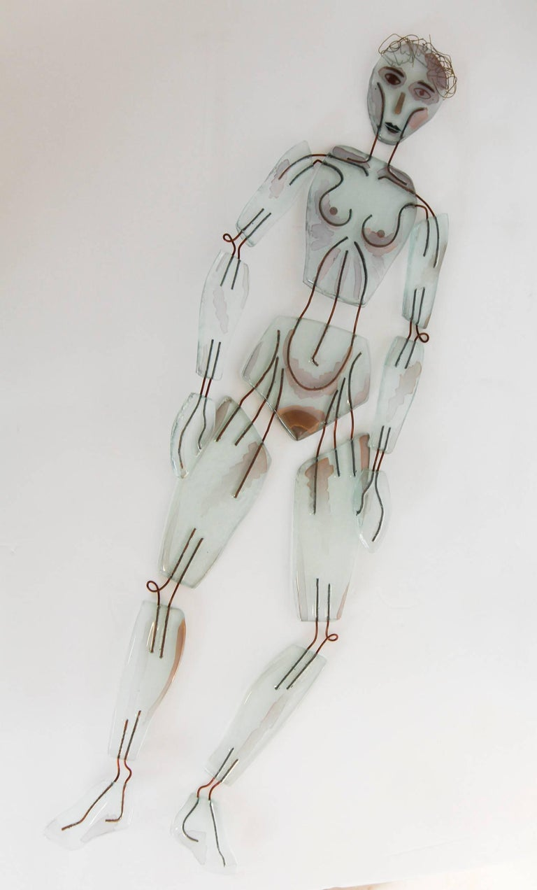 Mr and Mrs Transparency Glass Figures by Artist 3