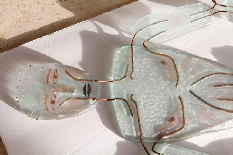 Mr and Mrs Transparency Glass Figures by Artist 4