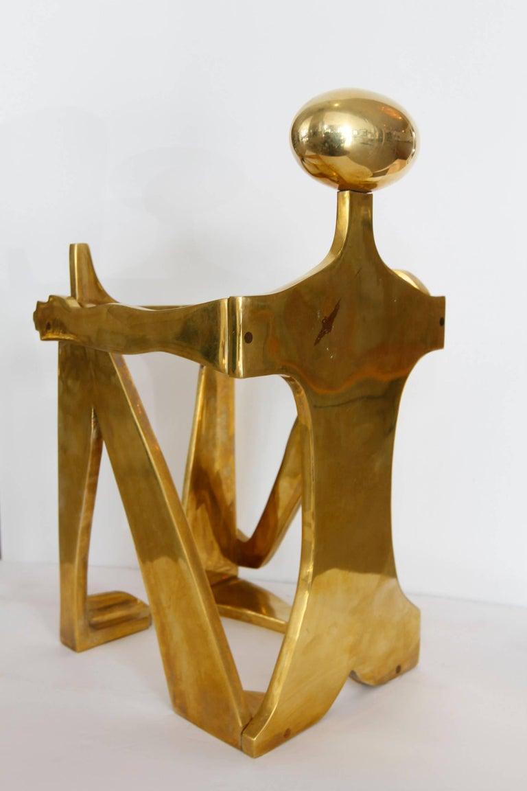 Modernist Brass Figural Sculpture by Arleen Eichengreen & Nancy Gensburg 5