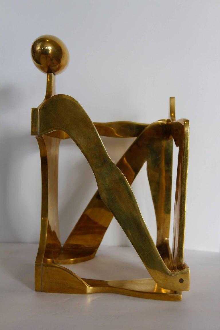 Modernist Brass Figural Sculpture by Arleen Eichengreen & Nancy Gensburg 8