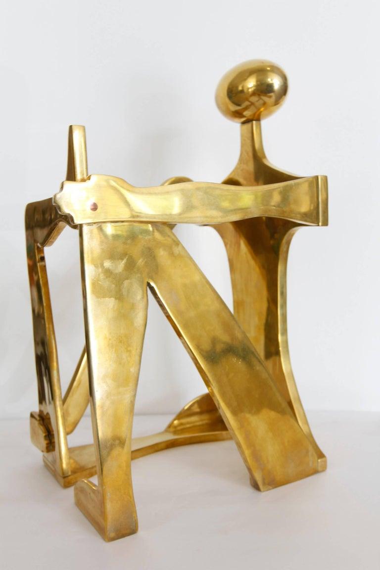 Modernist Brass Figural Sculpture by Arleen Eichengreen & Nancy Gensburg 6