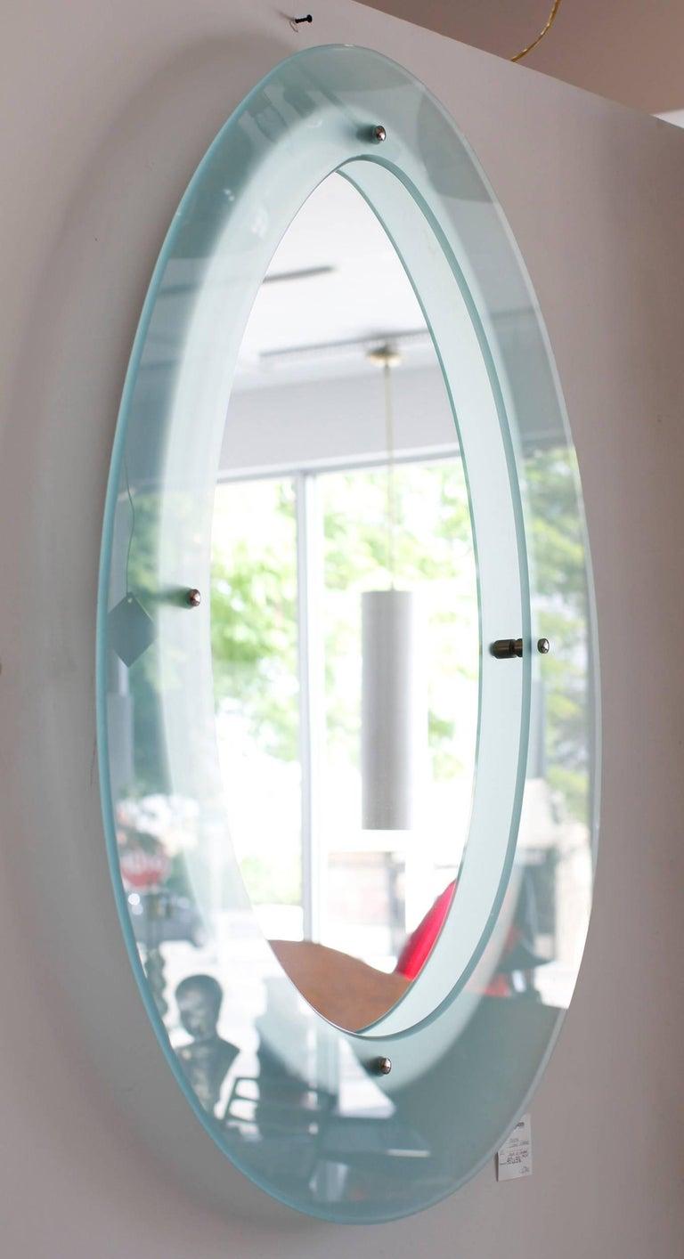 Italian Glass Mirror in the Style of Fontana Arte 3