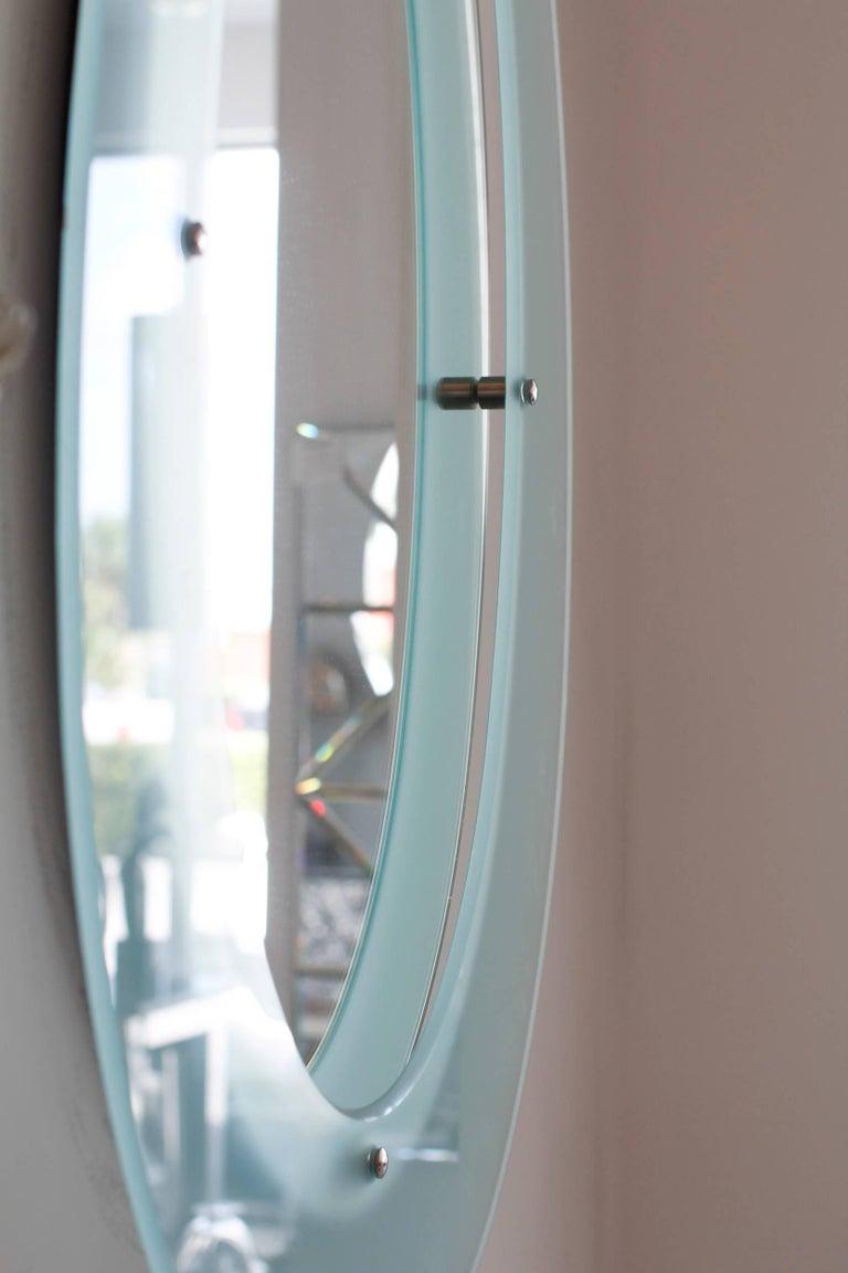 Italian Glass Mirror in the Style of Fontana Arte 4