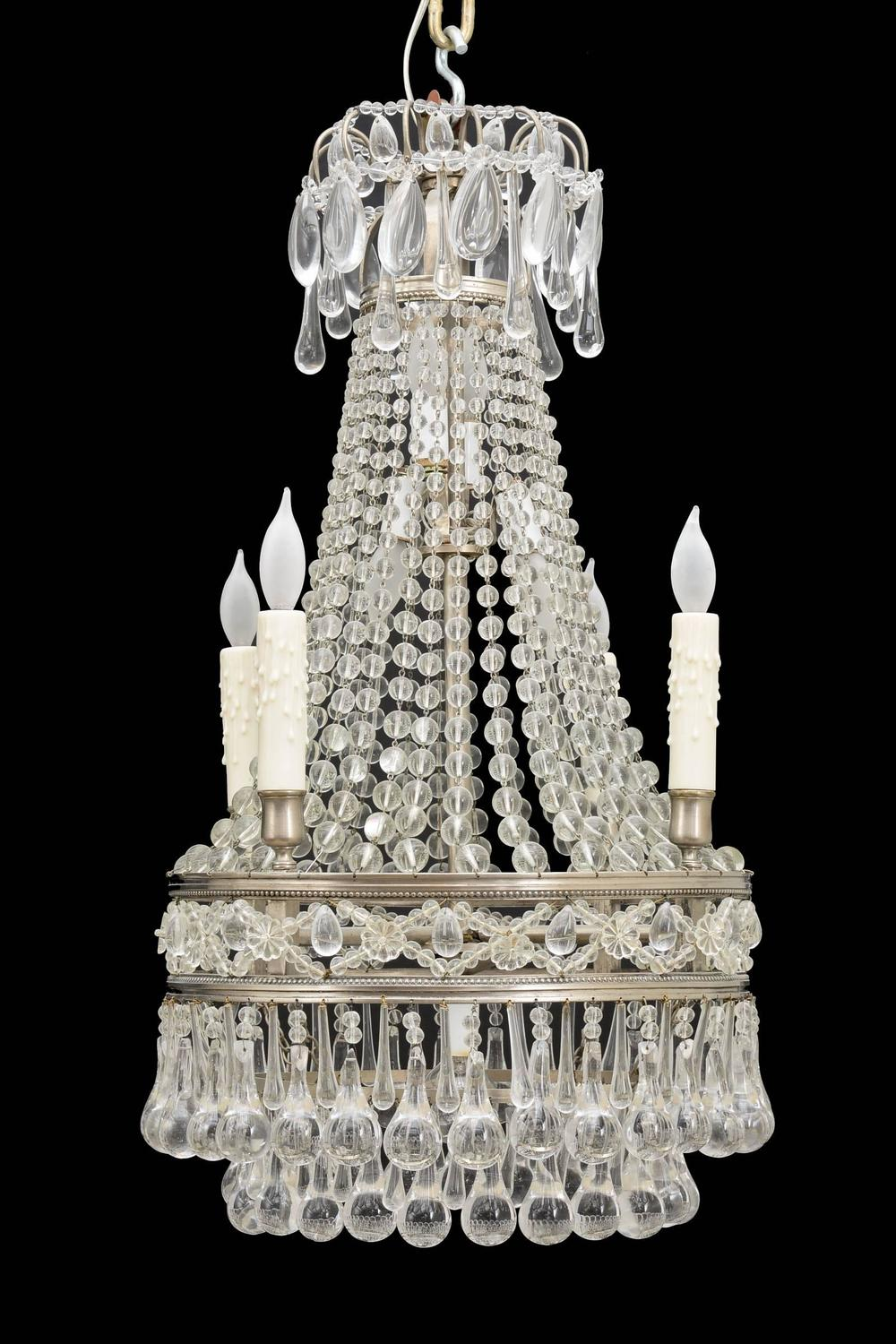 French Antique Crystal Chandelier For Sale at 1stdibs