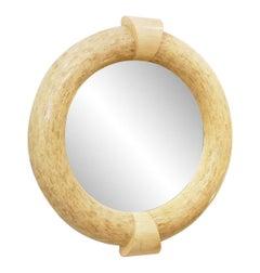 Large Circular Mirror by Karl Springer