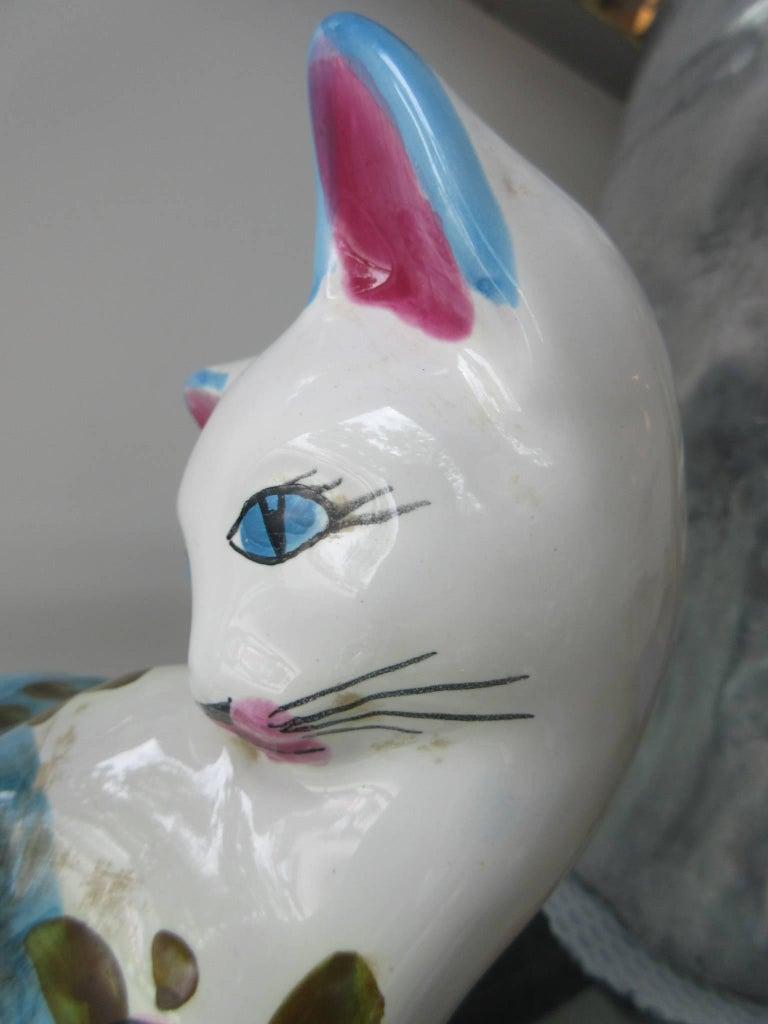 Vintage Italian Ceramic Cat 'Smaller' Handmade in Italy, Fornasetti Style 8